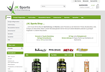 Screenshot, J.K. Sports