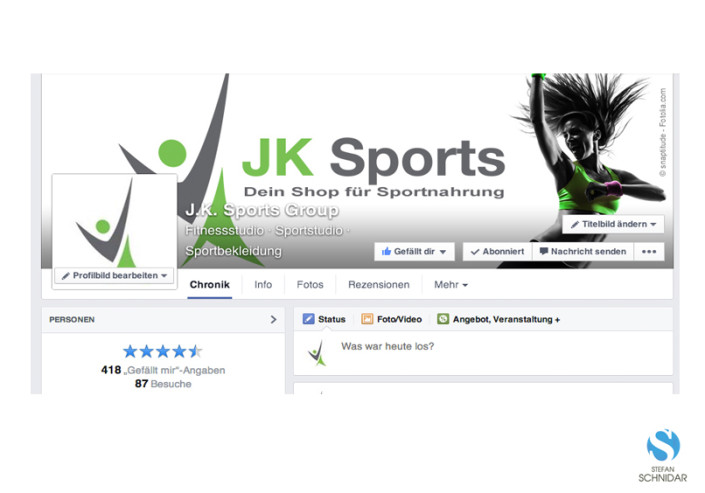 SOCIAL MEDIA, Facebook, JK Sports by SCHNIDAR