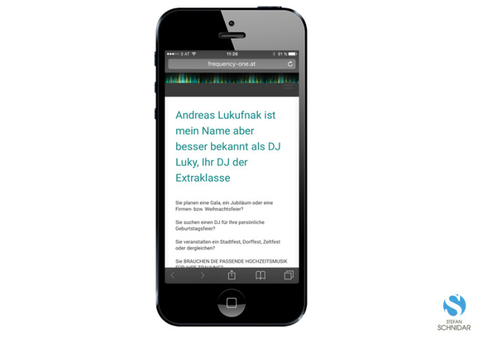 Website, iPhone, DJ-LUKY Andreas Lukufnak